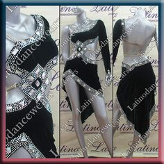 Latin Rhythm Salsa Ballroom Dance Competition Dress