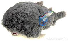 "Pillow Pets Pee Wees Sharky Shark Seen On TV 2011 15"" Stuffed Animal Plush Toy #PillowPets"