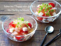 さっぱり&ヘルシー!長いもとトマトのコンソメゼリーサラダ★|レシピブログ