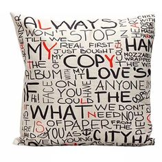 1 PCS Colorful Letter Print Decorative Linen Cushion Covers Brief Words Nordic Cushions