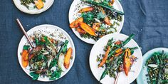 Roasted Carrots with Mung Beans Coconut Dukkah