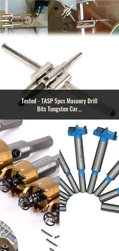 TASP Masonry Drill Bits Tungsten Carbide Tipped Concrete Drilling Set Size Power Tool Accessories Printed Circuit Board, Power Tool Accessories, Drill Bit, Tungsten Carbide, Woodworking Tools, Cnc, Concrete, Tools For Working Wood, Drills