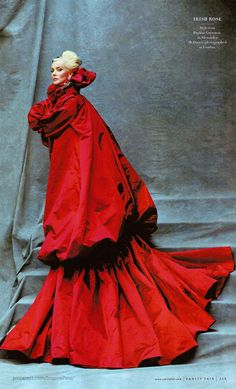 """Study in Scarlet"" Vanity Fair Sept 2008, Model: Daphne Guinness, Photographer: Michael Roberts"