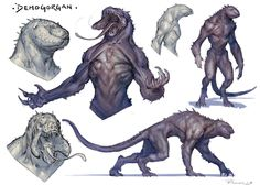 So here are the sketches for Day 26 of the I kind of wanted to go the route of the Monster Concept Art, Alien Concept Art, Creature Concept Art, Fantasy Monster, Monster Art, Creature Design, Mythical Creatures Art, Alien Creatures, Fantasy Beasts