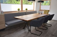 Kitchens and dining places - Buchauer - one forever - Loycehpo Dining Area, Kitchen Dining, Dining Table, House Inside, Office Interiors, Interior Design Living Room, Home Kitchens, Home Furniture, Sweet Home