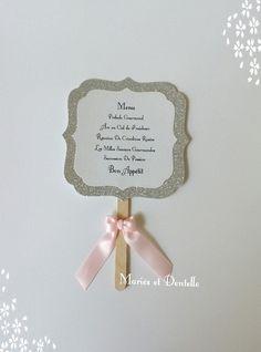 Menu mariage /baptême thème princesse : Autres papeterie par maries-et-dentelle