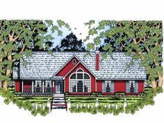 Cottage House Plan with 2002 Square Feet and 4 Bedrooms(s) from Dream Home Source   House Plan Code DHSW68418