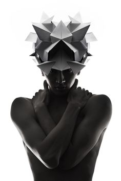 "Headpiece by Qi Hu ""Reflection"""