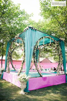 Weddings are a celebratory occasion which brings together two families. Confused whether to decorate your wedding mandap using florals or lights? We have curated a list with some awe-inspiring Wedding Mandap decor inspirations we know you'll love. Wedding Ceremony Ideas, Wedding Stage Decorations, Wedding Mandap, Wedding Events, Chic Wedding, Hall Decorations, Wedding Dress, Outdoor Decorations, Desi Wedding