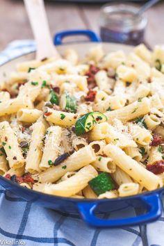 Mediterranean Zucchini Noodles With Sardines Recipe — Dishmaps