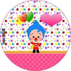 topper-payaso-plim-plim-para-ninas-imprimibles-ninas-payaso-plim-plim-decoracion-nenas-plim-plim Ideas Para Fiestas, First Birthdays, Carnival, Baby Shower, Halloween, Party, Editable, Salvador, Colorful Birthday