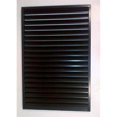 Protector Aluminium Easy Screen 810x1220mm Welded Louvre Panel  Black