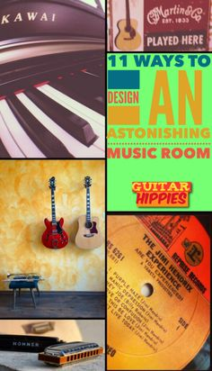 Music Room Design! 11 Ways To Design An Astonishing Music Room   #music #design #musicroom #guitarhippies   GuitarHippies - Inspiring Your Musical Journeys