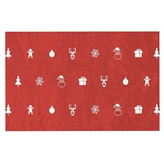 KESS InHouse Snap Studio 'Cheery Pattern Red' Maroon Dog Place Mat, x ** Continue to the product at the image link. (This is an affiliate link and I receive a commission for the sales) Dog Food Container, Studio S, Dog Food Recipes, Image Link, Kids Rugs, Amazon, Pets, Check, Pattern