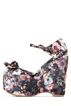 873ba38b42cd Jeffrey Campbell Shoes DAISY-D-FB New Arrivals in Brown Flower Velvet