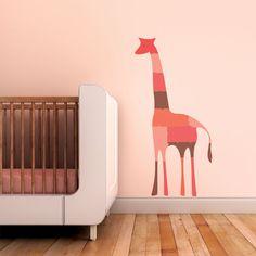 Giraffe Puzzle Children Wall Decal - Wall Art Sticker for Nursery or Kids Room.