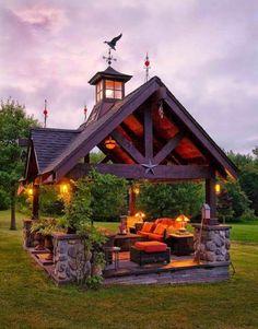 Small shelter house ideas for backyard garden landscape (28)