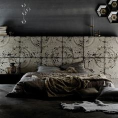 This is wallpaper! Antique Tin Tiles Collection by KOZIEL -Victorian style-