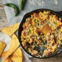 Mexican Street Corn Queso by @mytexaslife
