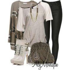 Cream rocker outfit