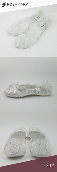 4456c0cc25 Spotted while shopping on Poshmark  Steve Madden Clear Jelly Ballet Flat  Woven Plastic!