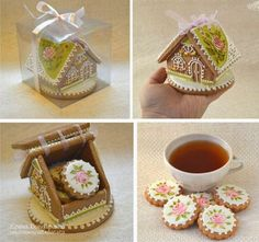 Check out the beautiful brushwork on this gingerbread house. The cookies are fabulous.