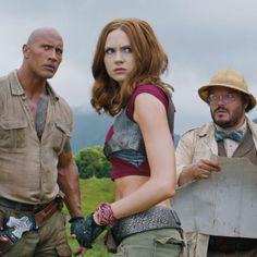 Dwayne Johnson Kevin Hart Jack Black and Karen Gillan try to survive the jungle in second 'Jumanji' movie sequel trailer