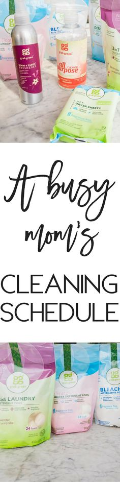 A busy mom's cleanin