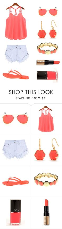 """""""Day at the Dock"""" by amelia-36 ❤ liked on Polyvore featuring OneTeaspoon, Trina Turk, Tory Burch, Gloria Vanderbilt, LVX, Bobbi Brown Cosmetics and summerbrights"""