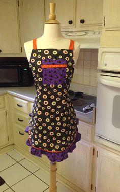 Woman's Full Apron Woman's Halloween Apron by PancakesOnSunday, $32.00