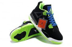 new product 43970 4bed9 New 2013 Latest Retro Air Jordan IV Scarpe Uomo In Nero Blu Verde Buy  Jordans,