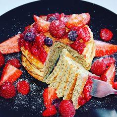 PANCAKES AUX GRAINES DE CHIA – Fit & Gourmande