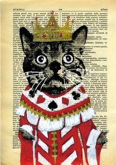 Cat Original Mixed Media Painting on Digital от VincenzoRizzo