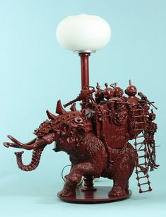 Wonderful Lamps Sculptured From Vintage Toys and Collectibles