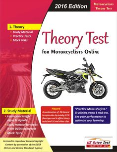 Prepare Official DVSA theory test for Motorcycle drivers at UKDriveTest. Get multiple choice questions from the theory test question bank with answers and explanations. Dealing with topics such as: alertness, vehicle safety and handling, safety margins, hazard awareness and more.