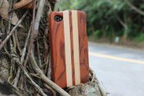 Unique Handmade Natural Wood Wooden Hard Case Cover for iPhone 4 4s (rosewood and maple)