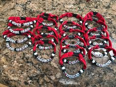 Hockey lace bracelet