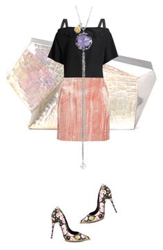 """""""Untitled #2154"""" by misnik ❤ liked on Polyvore featuring Rafe, Maison Margiela, Topshop Unique, Schutz, Tacori, women's clothing, women, female, woman and misses"""