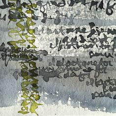 Asemic writing Online Painting, Ink Painting, Watercolor Art, Graffiti Writing, Writing Art, Calligraphy Types, Calligraphy Letters, Painting Courses, Art Courses