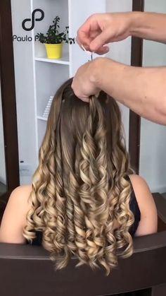 Kawaii Hairstyles, Cute Girls Hairstyles, Wedding Hairstyles, Cute Baby Girl Images, Weeding Dress, Wedding Dresses For Girls, Flat Iron, Hairdos, Hair Videos