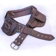 Wild Card Rider Utility Belt - last sizes L & XL Leather Tool Belt, Leather Tooling, Leather Men, Steampunk Belt, Fashion Bags, Sporty, Brown, Belts, Accessories