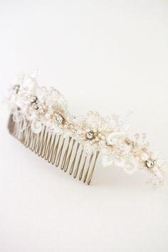 NICOLA | beaded bridal tiara | Percy Handmade