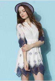 Boho Garden Lace Trimmed Dress - Dress - Retro, Indie and Unique Fashion