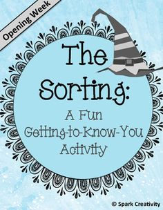 This fun first-week-of school activity is sure to be a hit for Harry Potter fans. Inspired by the famous Hogwarts sorting hat, the activity is divided into two parts. In the first, students participate in a full class activity in which they sort themselves into various places in the room based on experiences they have had and personality traits they share.