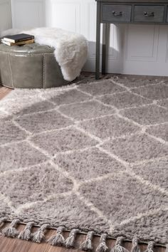 Rugs USA Fremont Shaggy Moroccan Trellis RUG