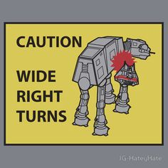 Caution Wide Right Turns