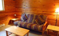 This 2 story cabin is great for a gathering of friends or family. It has 2 bedrooms, one with a queen bed and one with a king bed, plus a sitting room with a queen hide-a-bed and a second hide-a-bed in the living room. King Beds, Queen Beds, Hidden Bed, Sofa, Couch, Us Beaches, Upper Deck, Beach Resorts, Second Floor