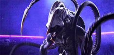 """Khanivore: Cutest beastie in the pit. Love Death and Robots episode """"Sonnie's Edge"""". Alien Concept Art, Creature Concept Art, Creature Feature, Creature Design, Fantasy Creatures, Mythical Creatures, Robot Icon, Robot Monster, Game Design"""