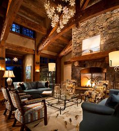 Whitefish Yacht Club Residence - rustic - living room - other metro - Locati Architects