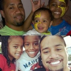 Fatu twins and kids Solofa Fatu, Roman Reigns Family, Trinity Fatu, Wrestling Stars, Dean Ambrose, Black Couples, Wwe Wrestlers, Shadows, Superstar